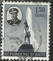 HAITI 1955 AIR MAIL POSTA AEREA Pres. Magloire And Dessalines Memorial. Gonaives ARMY 1.50g USATO USED OBLITERE' - Haiti