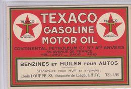 OLD POSTCARD ADVERTISING  TEXACO GASOLINE - MOTOR OIL - Pubblicitari
