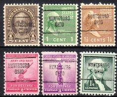 USA Precancel Vorausentwertung Preo's, Locals Ohio, Huntsburg 704, 6 Diff. - Vereinigte Staaten