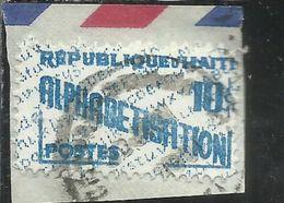 HAITI 1960 1961 PARCEL POST ALPHABETISATION ALFABETIZZAZIONE CENT. 10c USATO USED OBLITERE' - Haiti