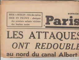 JOURNAL QUOTIDIEN PARIS-SOIR 4 PAGES RECTO VERSO N°6083 LUNDI 14 MAI 1940 2° GUERRE MONDIALE - Journaux - Quotidiens