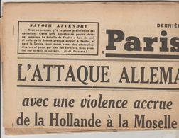JOURNAL QUOTIDIEN PARIS-SOIR 4 PAGES RECTO VERSO N°6084 LUNDI 15 MAI 1940 2° GUERRE MONDIALE - Journaux - Quotidiens