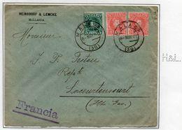 1 Lettre Perforée Perfin Espagne N°213 Et 214 Perf H&L 1907 - 1889-1931 Kingdom: Alphonse XIII