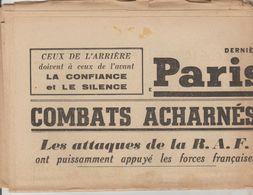 JOURNAL QUOTIDIEN PARIS-SOIR 4 PAGES RECTO VERSO N°6085 JEUDI 16 MAI 1940 2° GUERRE MONDIALE - Journaux - Quotidiens
