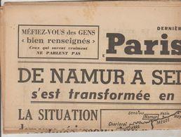 JOURNAL QUOTIDIEN PARIS-SOIR 4 PAGES RECTO VERSO N°6086 VENDREDI 17 MAI 1940 2° GUERRE MONDIALE - Journaux - Quotidiens