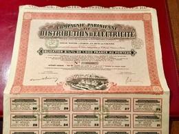 Cie  Parisienne   De  DISTRIBUTION  D' ÉLECTRICITÉ   ------------Obligation  5 1/2%  De  1.000 Frs - Electricity & Gas