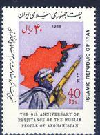 +D2713. Iran 1988. Afghanistan Resistance. Michel 2321. MNH(**) - Irán