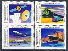 +B1323. Iran 1989. Transport & Telecommunication. 2 Pairs. Michel 2322-25. MNH(**) - Iran