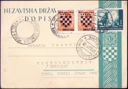 CROATIA - NDH - KAMENICA SREM To CASTELMUSCHIO FIUME - Insel KRK - 1941 - RARE - Croacia