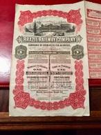 Cie  De  CHEMINS  De  FER  Au  BRÉSIL  --------  Action  Non  Cumulative  De  100$ - Railway & Tramway