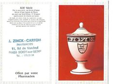 C/alendrier De Poche 10x13 / 1979/ Pharmacie ZINCK-CARTON 91 Soisy / Pot Pharmacie Décor Fleurs / Chalons Sur Saône - Calendari