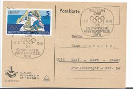 OYW007 /  Olympiade - Spiele 1976, Schlitten Wettbewerb, Berlin Nach Karl Marx Stadt - Winter 1976: Innsbruck