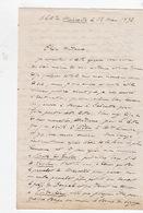 Docteur Carpentier, Médecin De La Marine, à Bord Du Mahratta. 18 Mars 1872. - Autographs