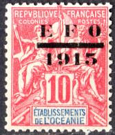 OCEANIE - Série Courante Surchargée 1915 - Oceania (1892-1958)