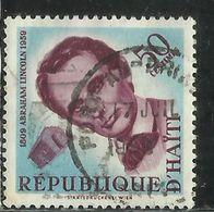 HAITI 1950 US PRESIDENT Abraham Lincoln PRESIDENT USA CENT. 50c USATO USED OBLITERE' - Haiti