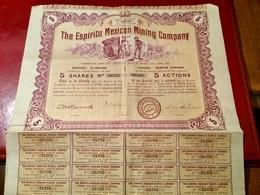 THE   ESPIRITU    MEXICAN   MINING  COMPANY  ----------    Titre  De  5  Actions - Mines