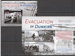 H570 2015 LIBERIA HISTORY WW2 EVACUATION OF DUNKIRK 1BL+1KB MNH - 2. Weltkrieg