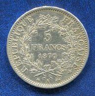 PIECE 5 FRANCS 1877 A - France