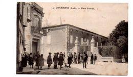 Ornaisons -Aude - Place Centrale - Voir état - France