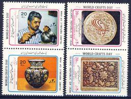 +B1324. Iran 1989. World Craft Day. 2 Pairs. Michel 2345-48. MNH(**) - Iran