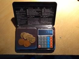 BALANCE DE PRECISION MULTIFONCTIONS - POIDS MAX 1000g - 0,1G; - CALCULATRICE - THERMOMETRE - COMME NEUVE + ETUI + NOTICE - Materiale