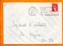 VAL DE MARNE, Villiers Sur Marne, Flamme SCOTEM N° 4347, 30 Ans De Recherches, Société Historique - Oblitérations Mécaniques (flammes)