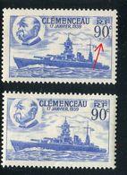 France - N°425 Variété 1 Exemplaire Points Bleu Au Chiffre 90c + 1 Normal  , Neufs Luxe - Ref V378 - Variedades Y Curiosidades