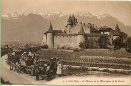 Aigle-Le Château Et Les Montagnes De Savoie,vendanges - VD Vaud