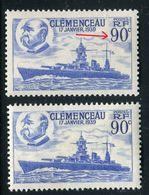 France - N°425 Variété 1 Exemplaire Point Bleu Au Chiffre 9 ( Illusion 9 Fermé ) + 1 Normal  , Neufs Luxe - Ref V379 - Variedades Y Curiosidades