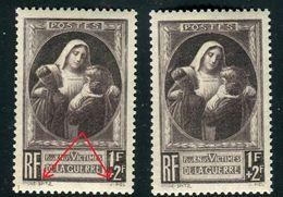 France - N°465 , Variété Double Signatures + 1 Normal , Neufs Luxe - Ref V382 - Variedades Y Curiosidades