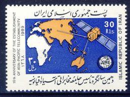+D2746. Iran 1989. APT Telecommunity. Michel 2353. MNH(**) - Irán