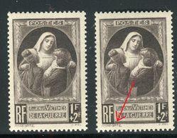 France - N°465 , Variété Double Signature Spitz + 1 Normal , Neufs Luxe - Ref V386 - Variedades Y Curiosidades