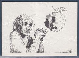 = Albert Einstein, Encart Double, Une Citation De Ce Physicien Théoricien - Filosofia & Pensatori