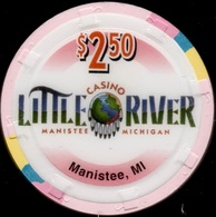 $2.50 Casino Chip. Little River, Manistee, MI. K76. - Casino