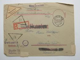 1947 , BERLIN W 8 , Einschreiben - NN- Mii Minutenstempel (Rohrpost ?)  , Oben Risschen - Berlin (West)