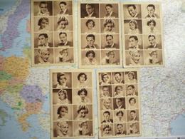 Lot De 5 Photographies De Portraits Miniature De Vedettes Offertes Par Toni-Banan' - Publicité Cinématographique