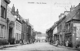 CPA - LILLERS (62) - Aspect De La Rue De Pernes Au Début Du Siècle - Plaque émaillée Singer - Lillers