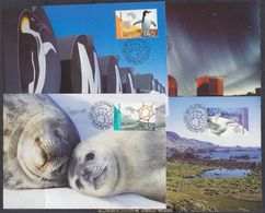 AAT 2002 Australian Antarctic Research 4v 4 Maxicards (37683) - Maximumkaarten