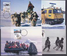 AAT 2001 Australians In The Antarctic 4 Maxicards** Mnh (37685) - Maximumkaarten
