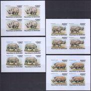 D541 IMPERFORATE 2011 REPUBLIQUE DU BURUNDI FAUNA ANIMALS MAMMALS RHINOCEROS LUX 4KB MNH - Rhinozerosse