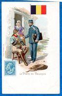 Belgique-  La Poste  - Facteur Distibuant Le Courrier -  Ed KF  CPA  1900 - Correos & Carteros