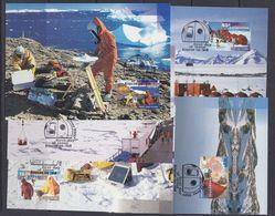 AAT 1997 Antarctic Research Expedition 5v 5 Maxicards ** Mnh (37686) - Maximumkaarten