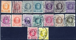 Belgie 1922, Belgium, Belgique, Belgien, Albert I, YT 190 / 257, Mi 170 / 229, SG 349 / 367 - 1922-1927 Houyoux
