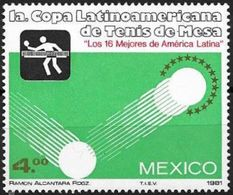 Messico/Mexico/Mexique: Coppa Latino Americana Di Tennis Tavolo, American Latino Cup Of Tennis Table, Coupe Latino-améri - Tischtennis