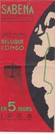 Fascicule Ancien SABENA - 1935 - Carte Liaison Postale Belgique-Congo-Belge - World