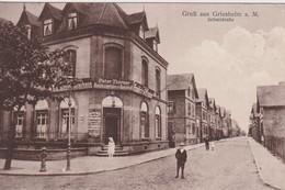 ALLEMAGNE 1928 CARTE POSTALE DE GRIESHEIM  SCHULSTRASSE - Griesheim