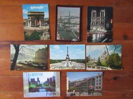 Lot De 8 Cartes De Paris     La Défense, La Tour Eiffel, Notre Dame, Arc De Triomphe, Sacré Coeur, Centre Pompidou Ect.. - Postcards