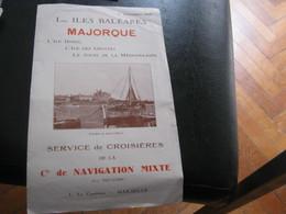Depliant Iles Baleares 1930 - Dépliants Touristiques