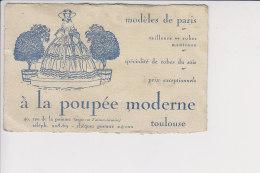 A La Poupée Moderne Toulouse Haute Garone , Voir Dos De La Carte - Visiting Cards