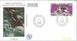 TAAF FDC 177 - ALFRED FAURE CROZET 01/01/1993  L'Orque. - FDC